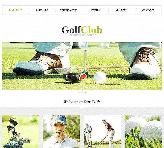 Moto CMS HTML Vorlage für Golf  New Screenshots BIG