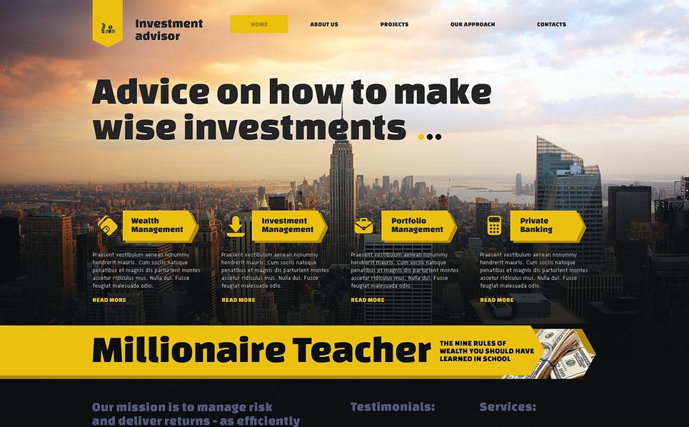 Responsive Website Vorlage für Investmentgesellschaft  New Screenshots BIG