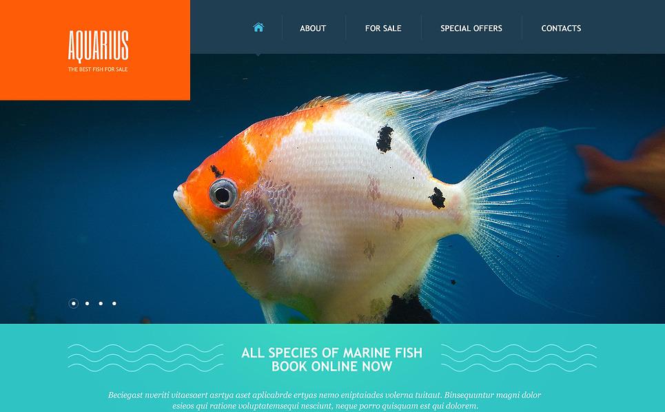Tema Siti Web Responsive #47484 per Un Sito di Pesci New Screenshots BIG
