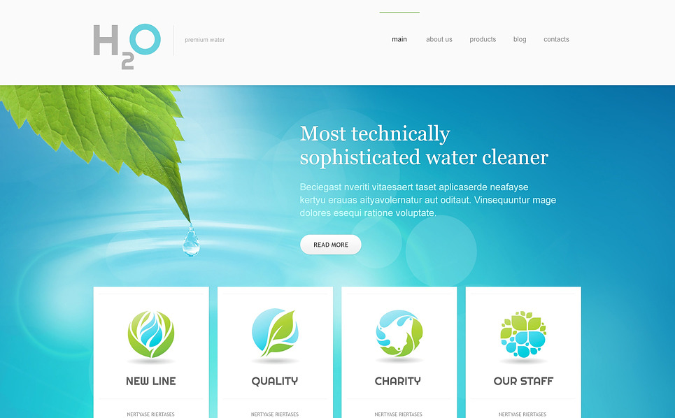 Responsive Joomla Template over Water  New Screenshots BIG