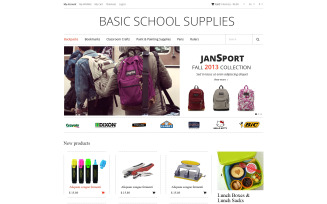 School Supplies Magento Theme
