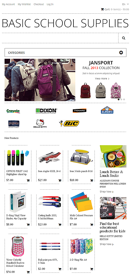 Magento Theme/Template 47498 Main Page Screenshot