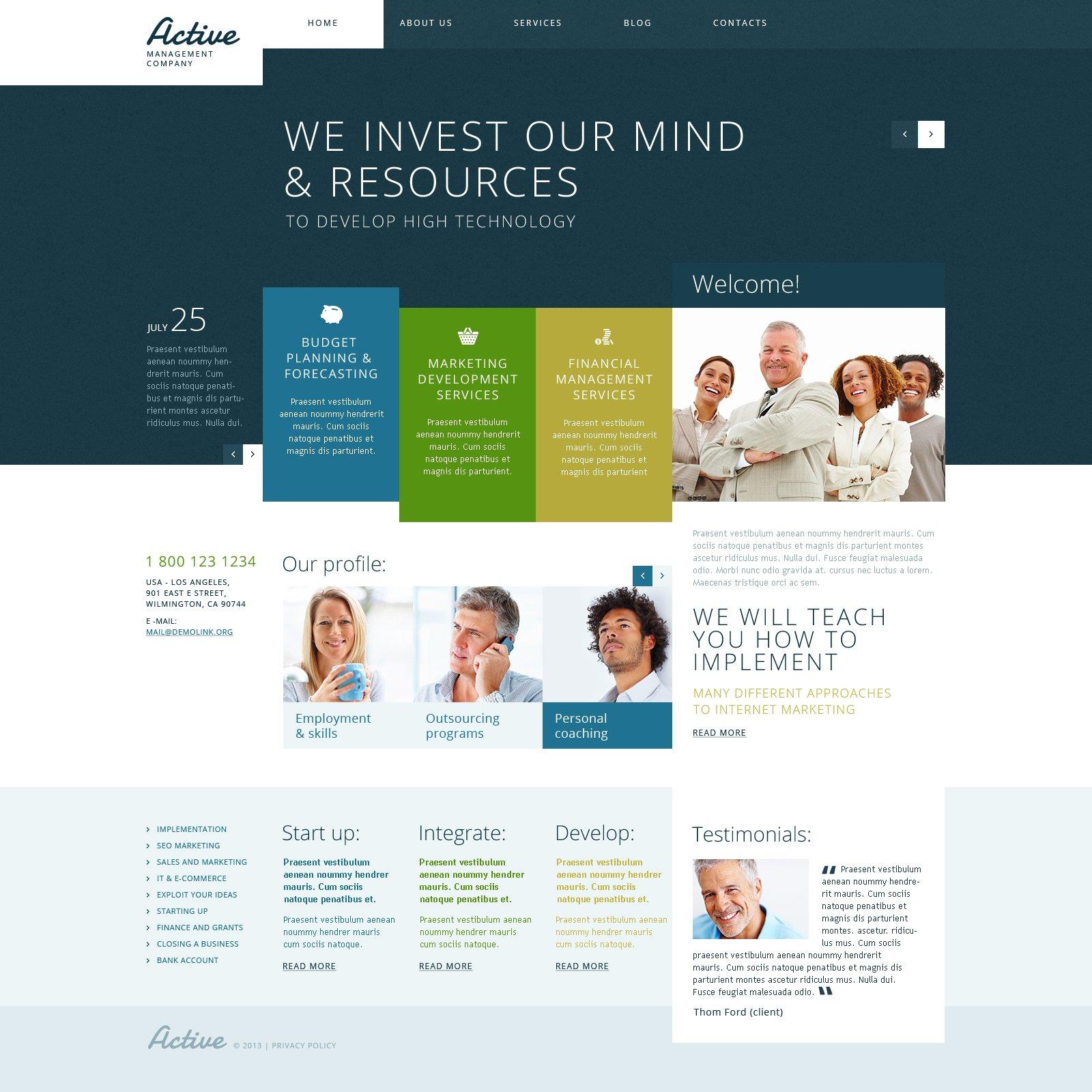 Active Management WordPress Theme - screenshot
