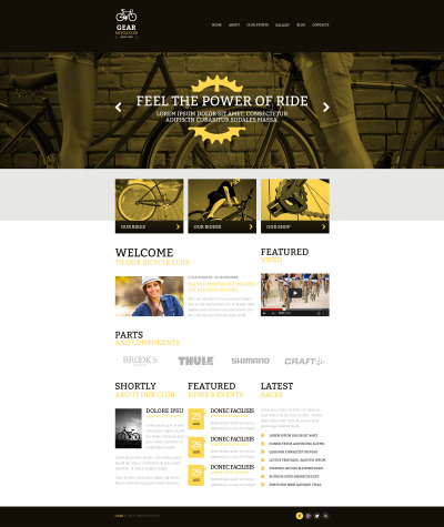 Адаптивный HTML шаблон №47496 на тему велоспорт