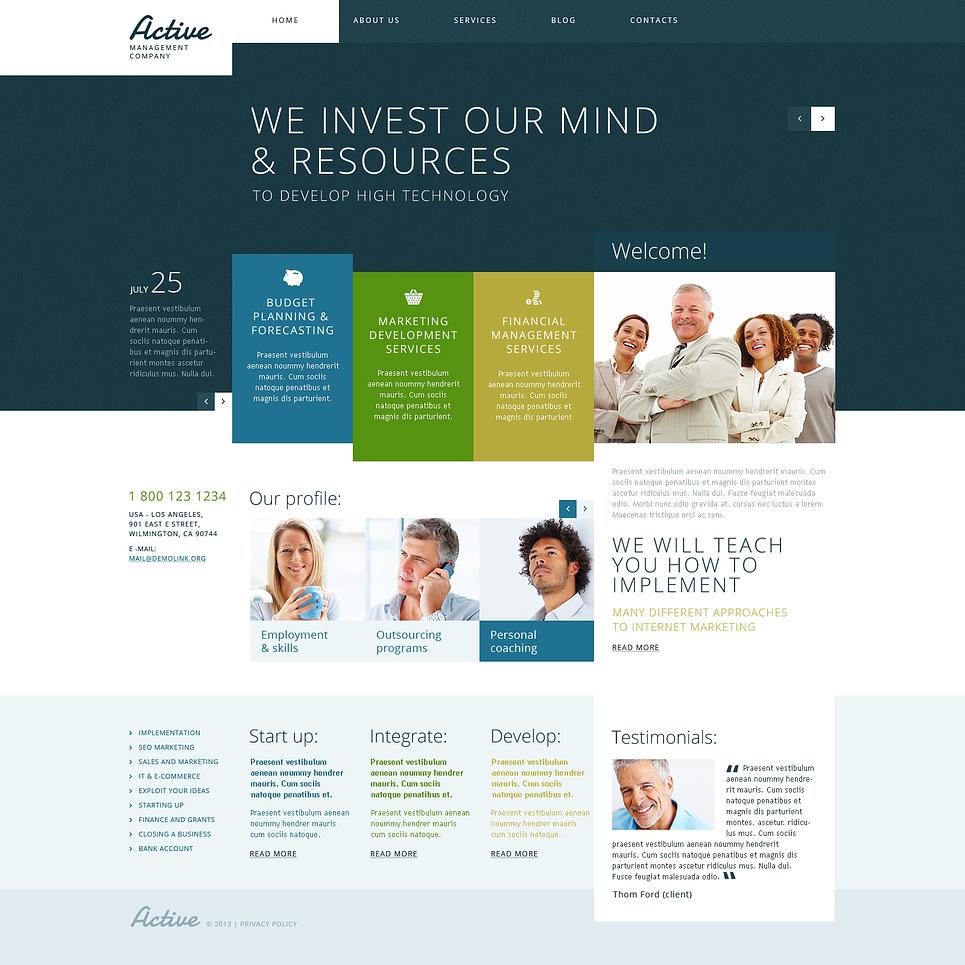 Адаптивный шаблон сайта на тему управляющая компания #47405
