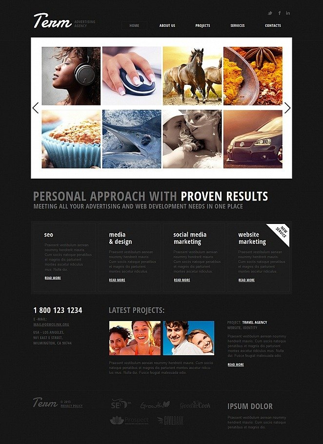Advertising Agency Moto CMS HTML Template New Screenshots BIG