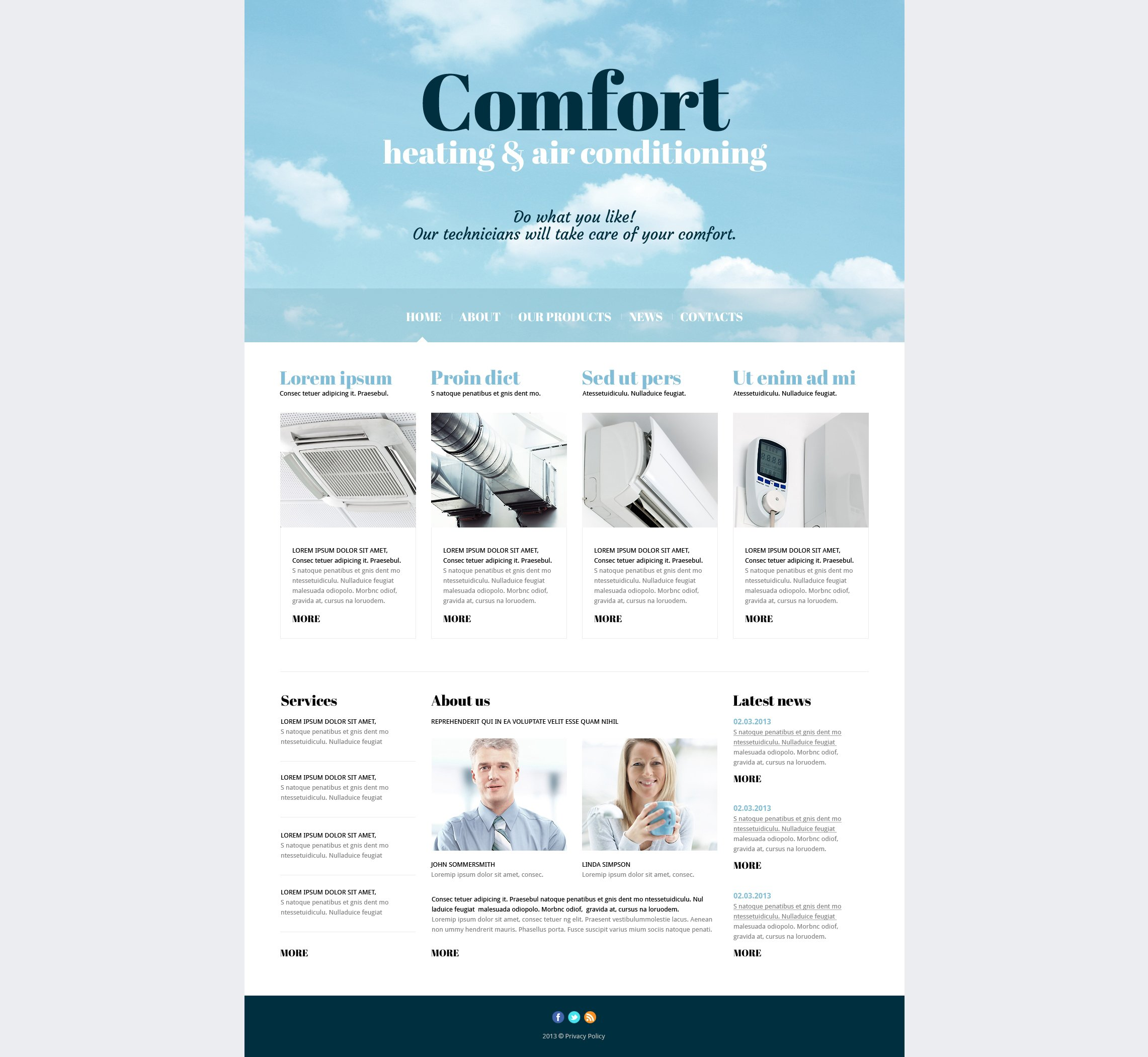 Air Conditioning Responsive Joomla Template
