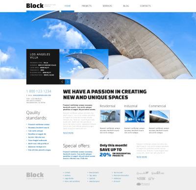 Flexível tema WordPress №47404 para Sites de Arquitetura