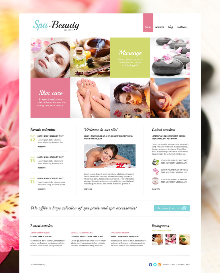 Beauty Salon Responsive Joomla Template New Screenshots BIG
