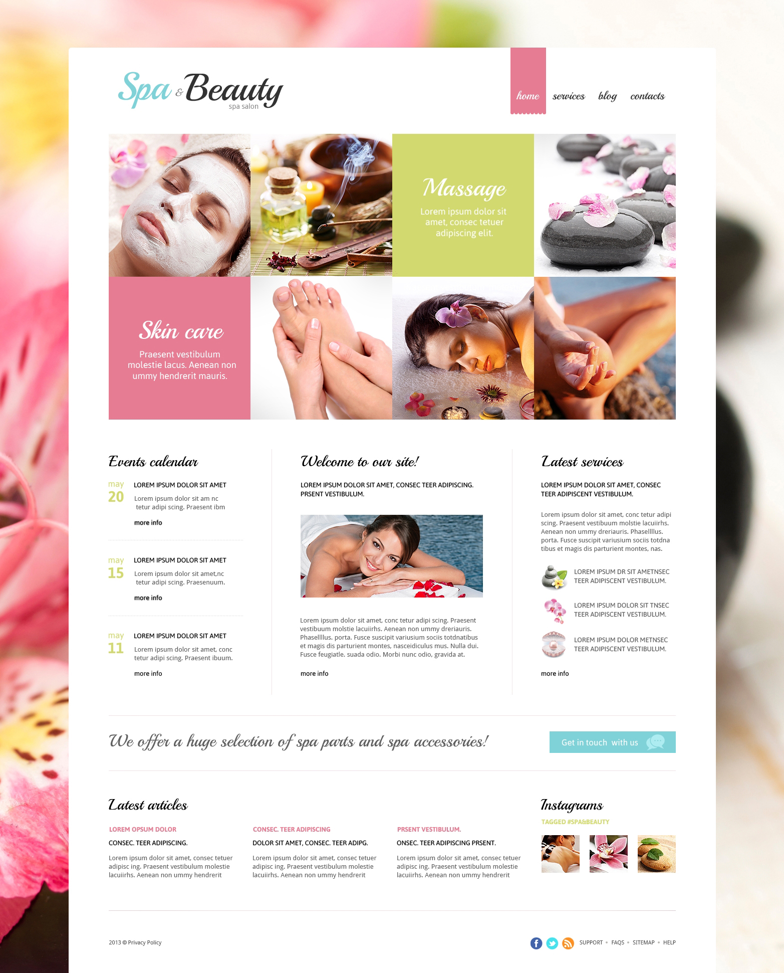 Beauty Salon Responsive Joomla Template