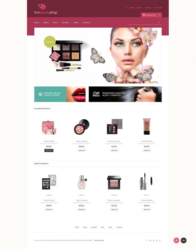 Beauty Shop WooCommerce Theme New Screenshots BIG