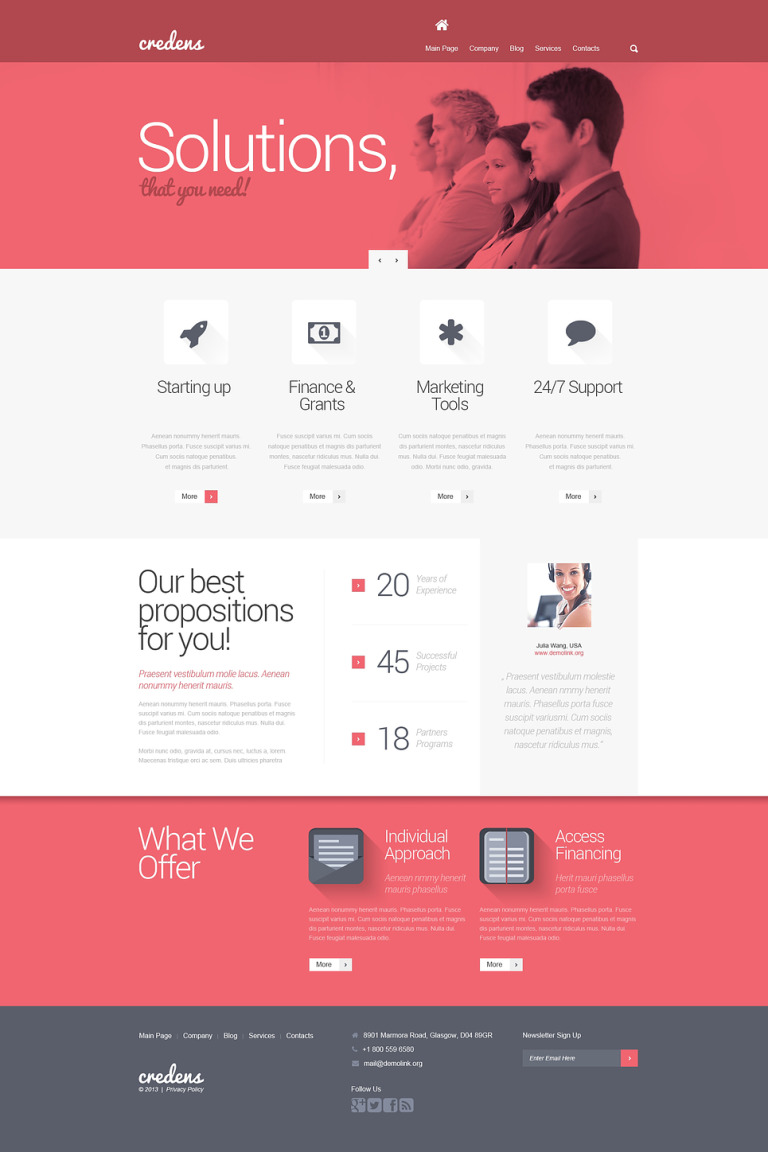 Business for Bold Start WordPress Theme New Screenshots BIG