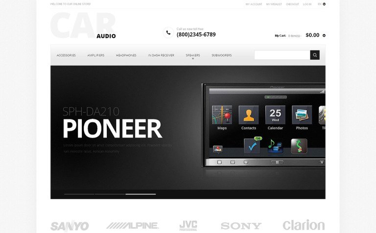 Car Audio Magento Theme