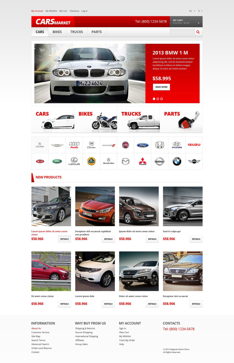 Car Dealer Responsive Magento Theme New Screenshots BIG