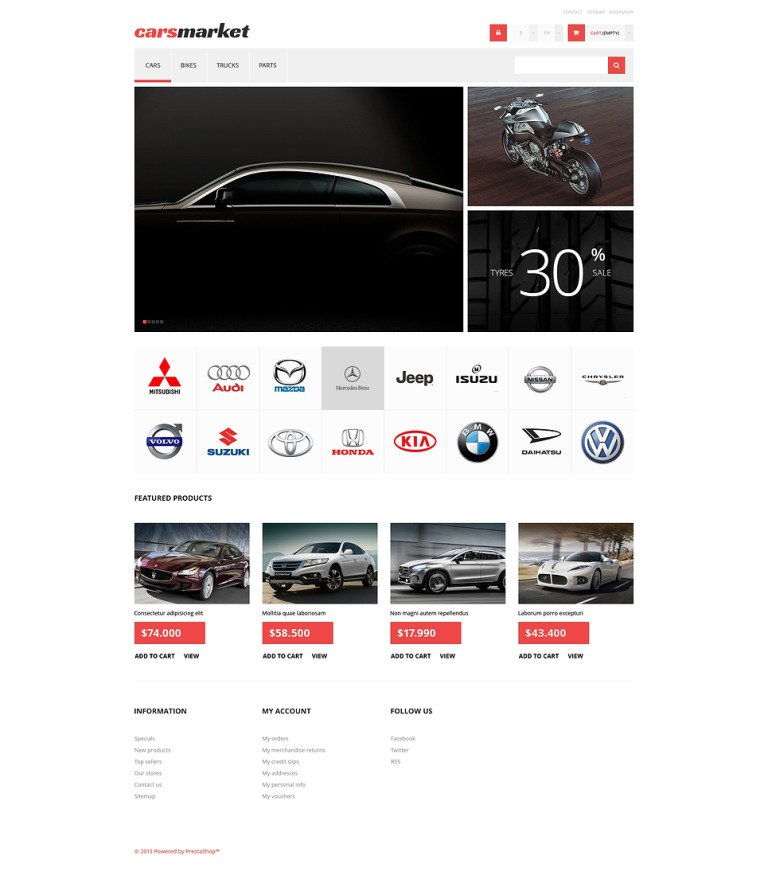 Cars Market PrestaShop Theme New Screenshots BIG