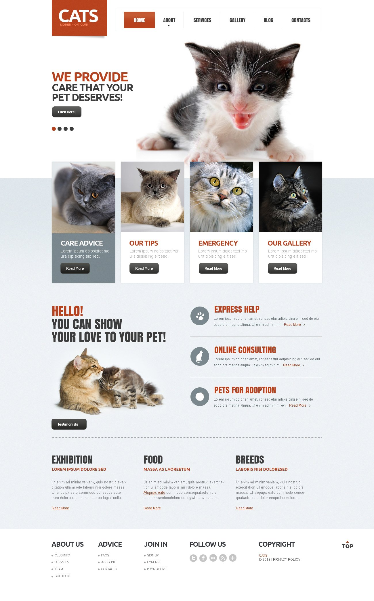 Cat Responsive Drupal Template - screenshot