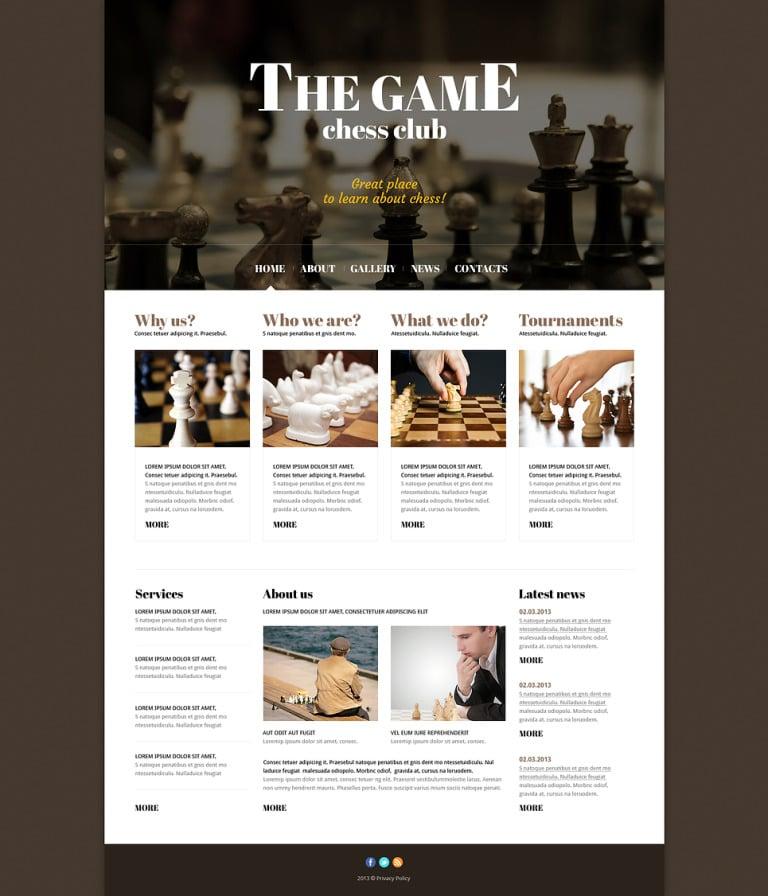 Chess Responsive Joomla Template New Screenshots BIG
