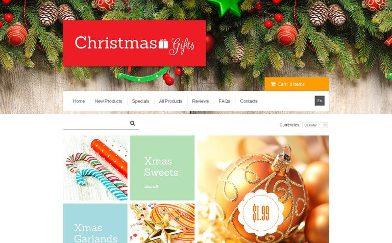 Christmas Gifts ZenCart Template