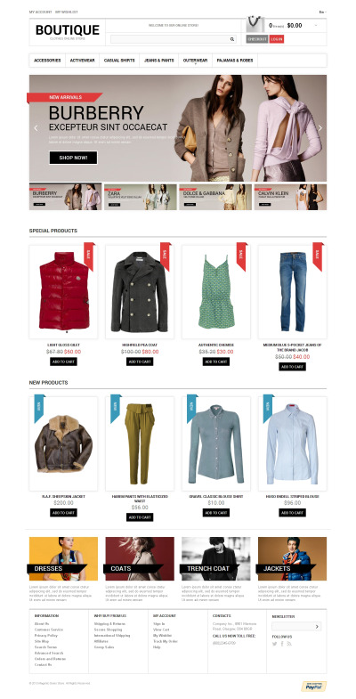 Clothes Boutique Magento Theme #47455