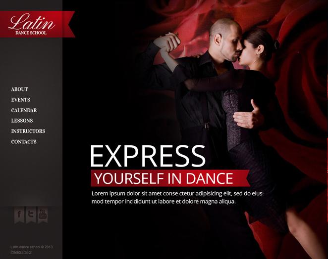Dance Studio Moto Cms Html Template 47464