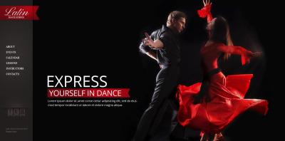 Dance Studio Moto CMS HTML Template #47464