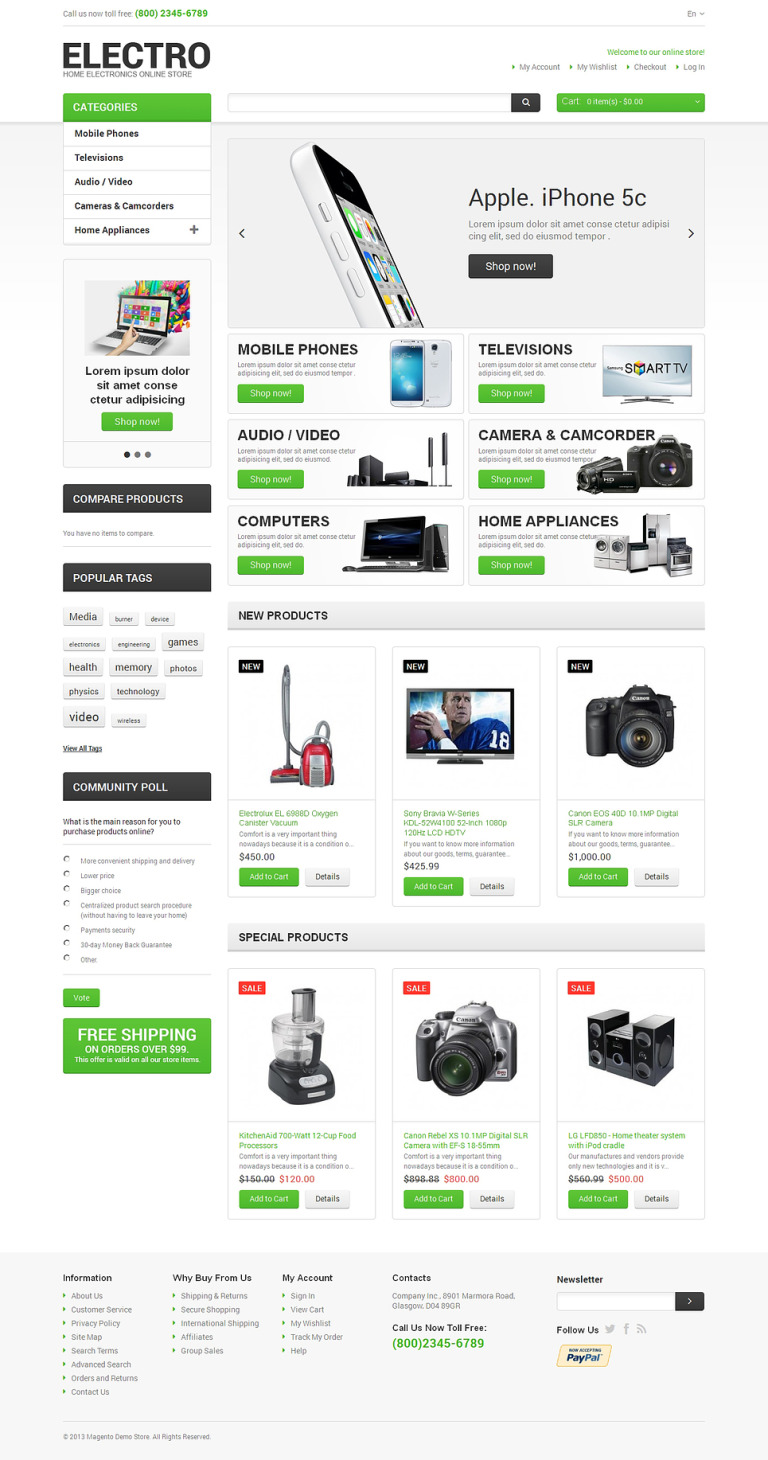 Electro Appliances Magento Theme New Screenshots BIG