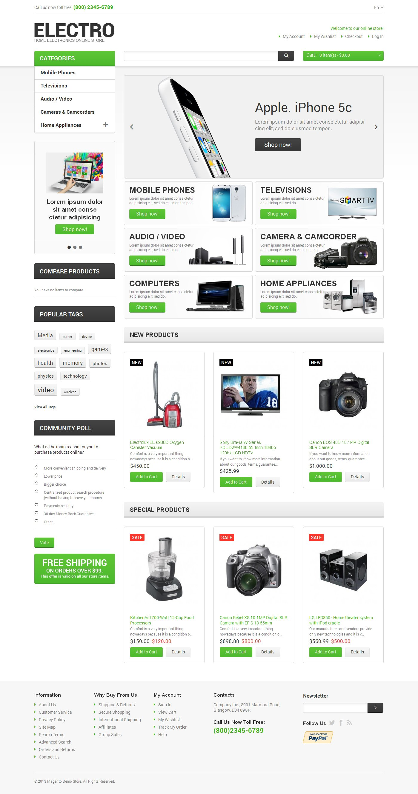 Electro Appliances Magento Theme
