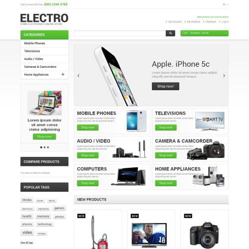 Electro  - Responsive Magento Template
