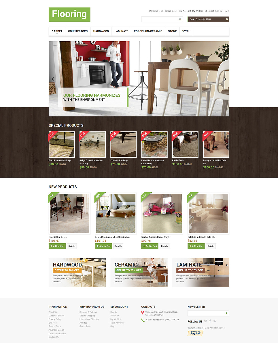 Flooring Store Magento Theme New Screenshots BIG