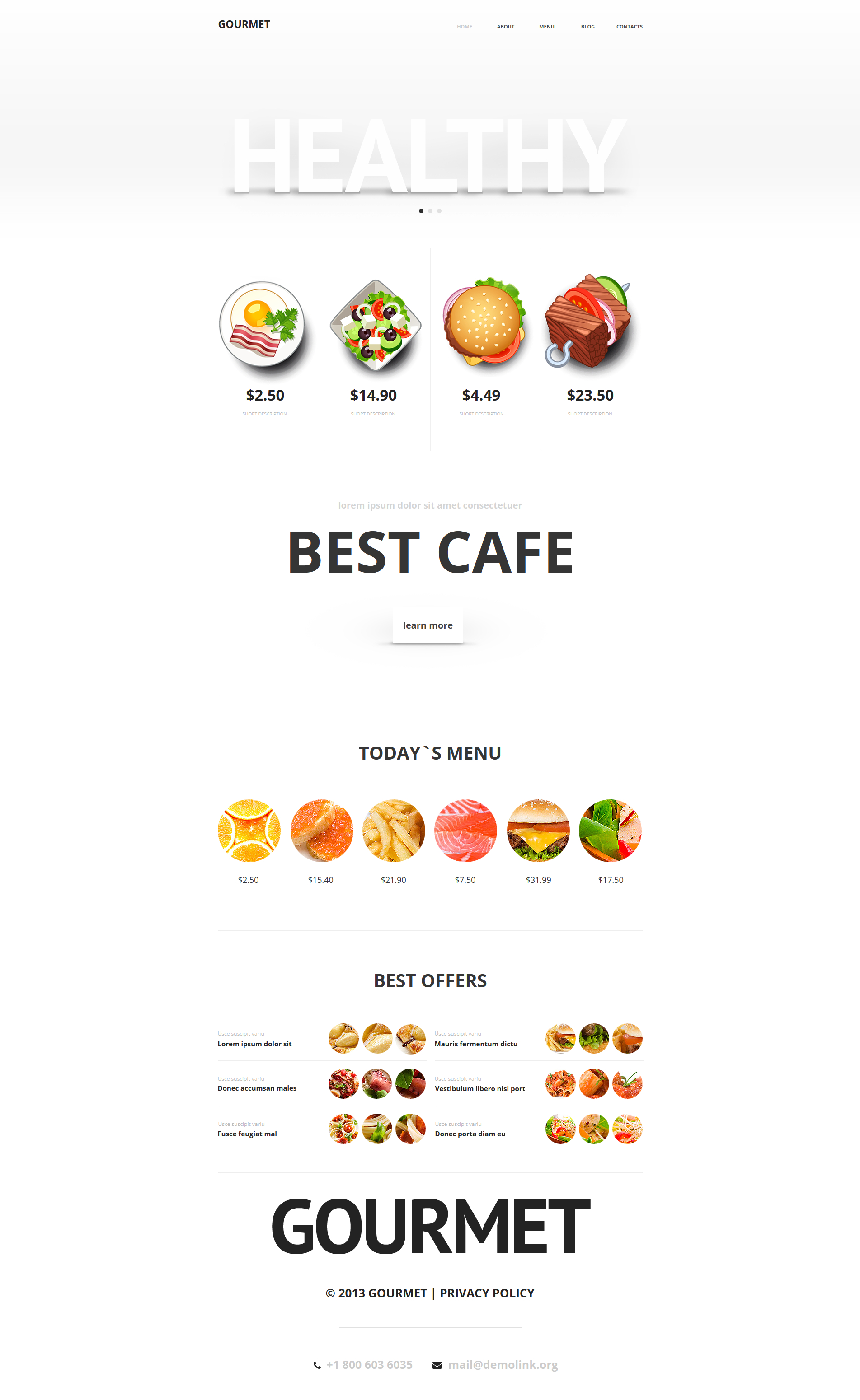 Food Store Moto CMS HTML Template