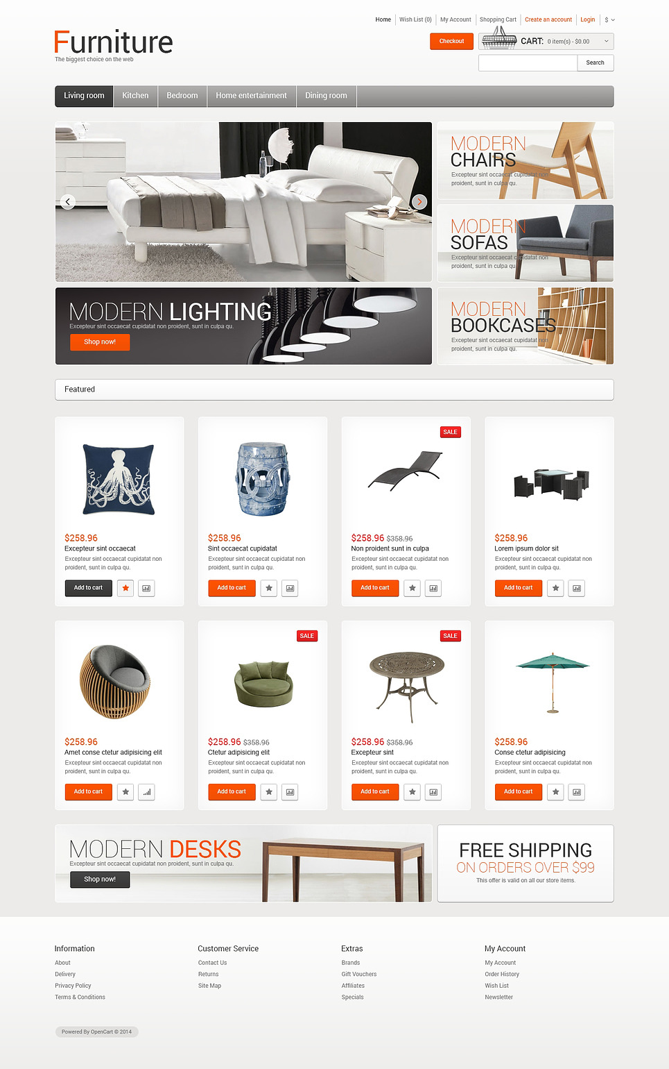 Furniture for Comfort OpenCart Template New Screenshots BIG