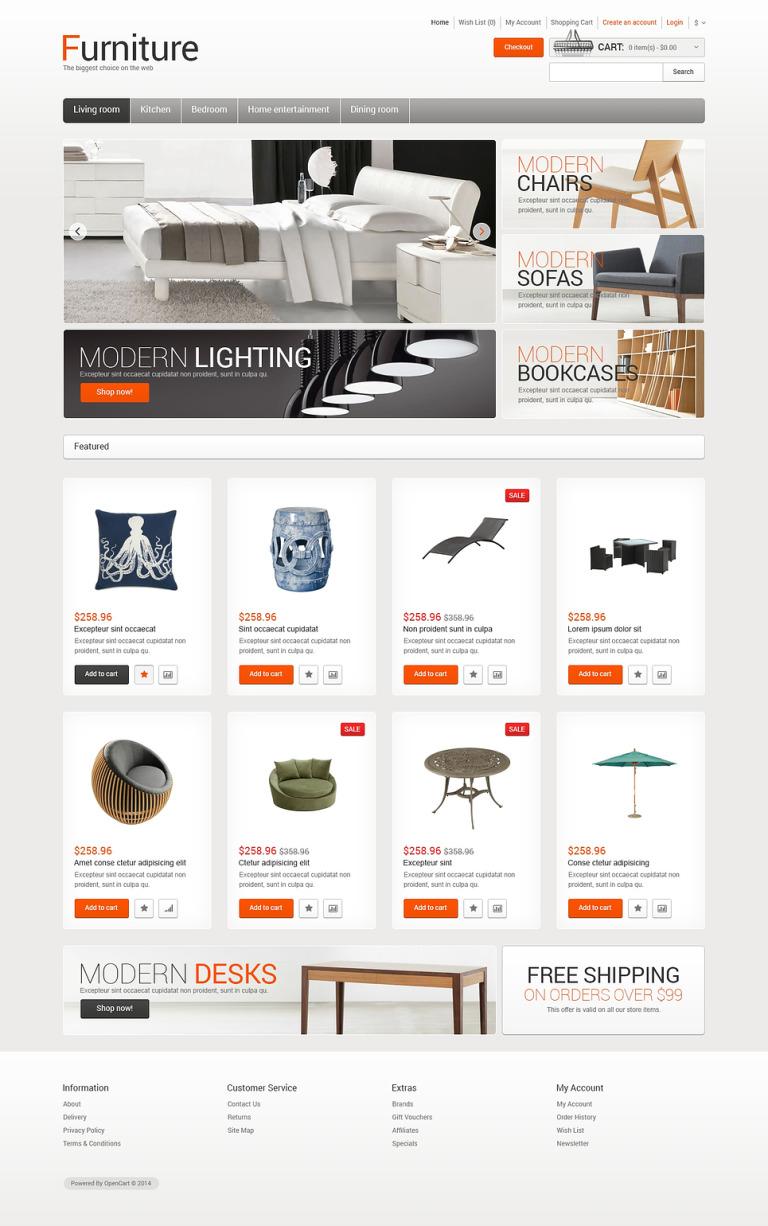 Furniture for Comfort OpenCart Template New Screenshots BIG