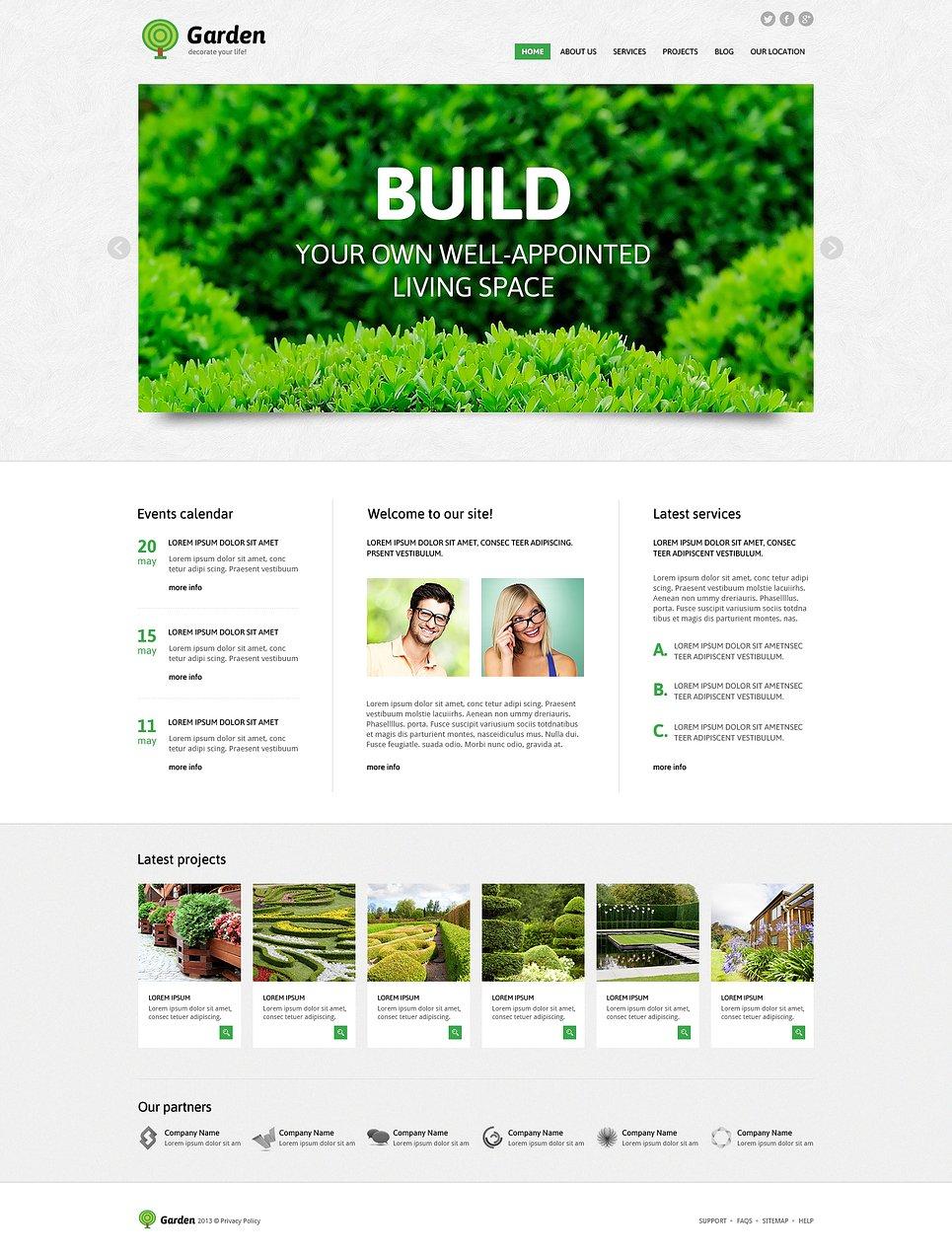Garden Design Template garden design responsive joomla template #47431