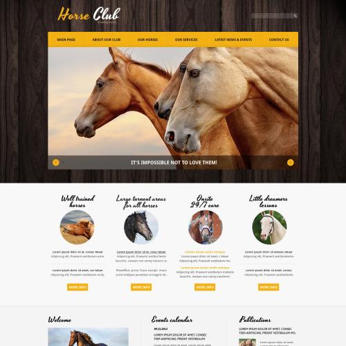 Horse Club - Responsive Joomla! Template
