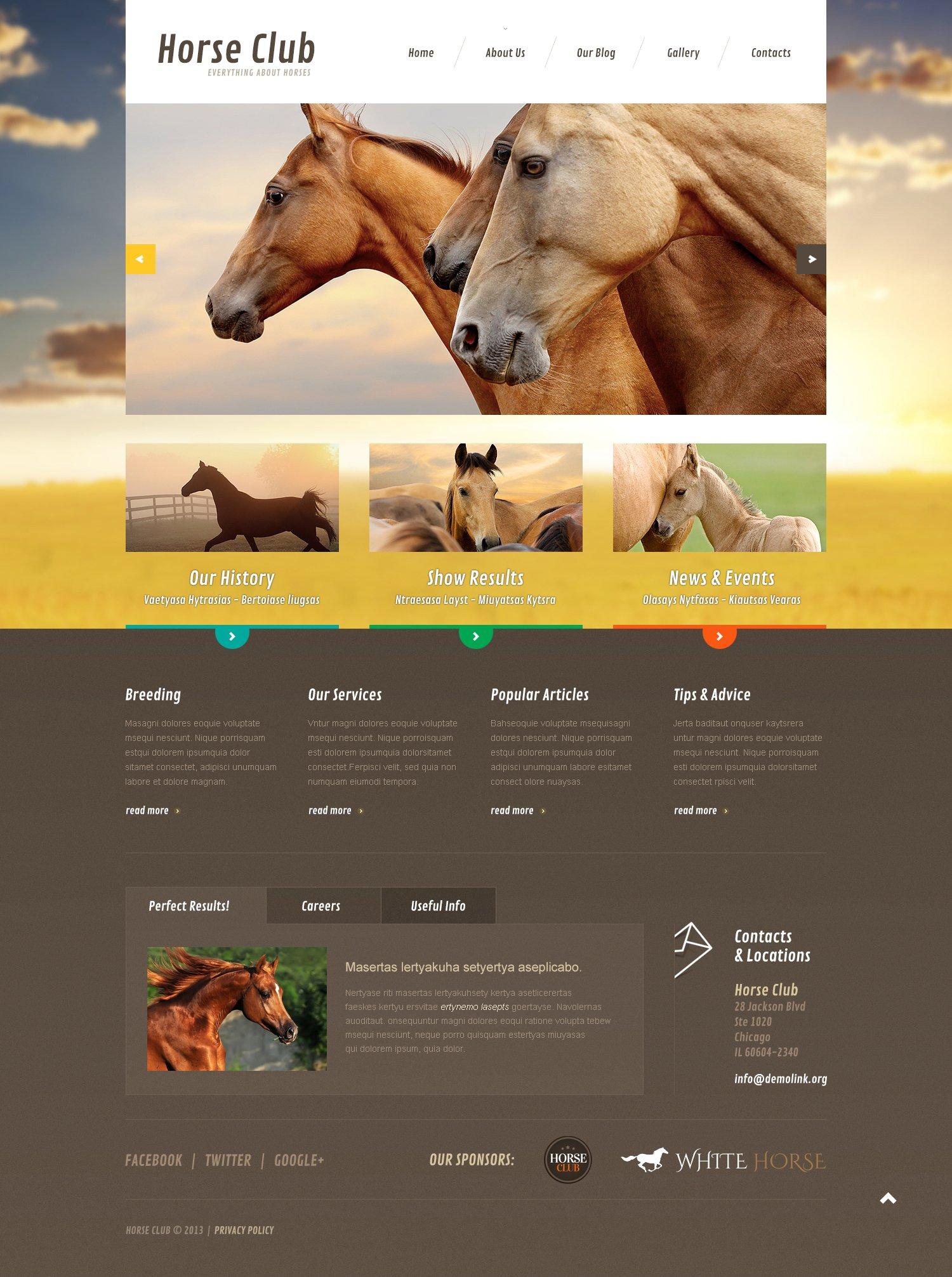 Horse Responsive Joomla Template - screenshot