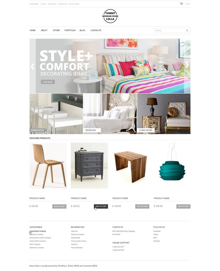 Interior Store WooCommerce Theme New Screenshots BIG