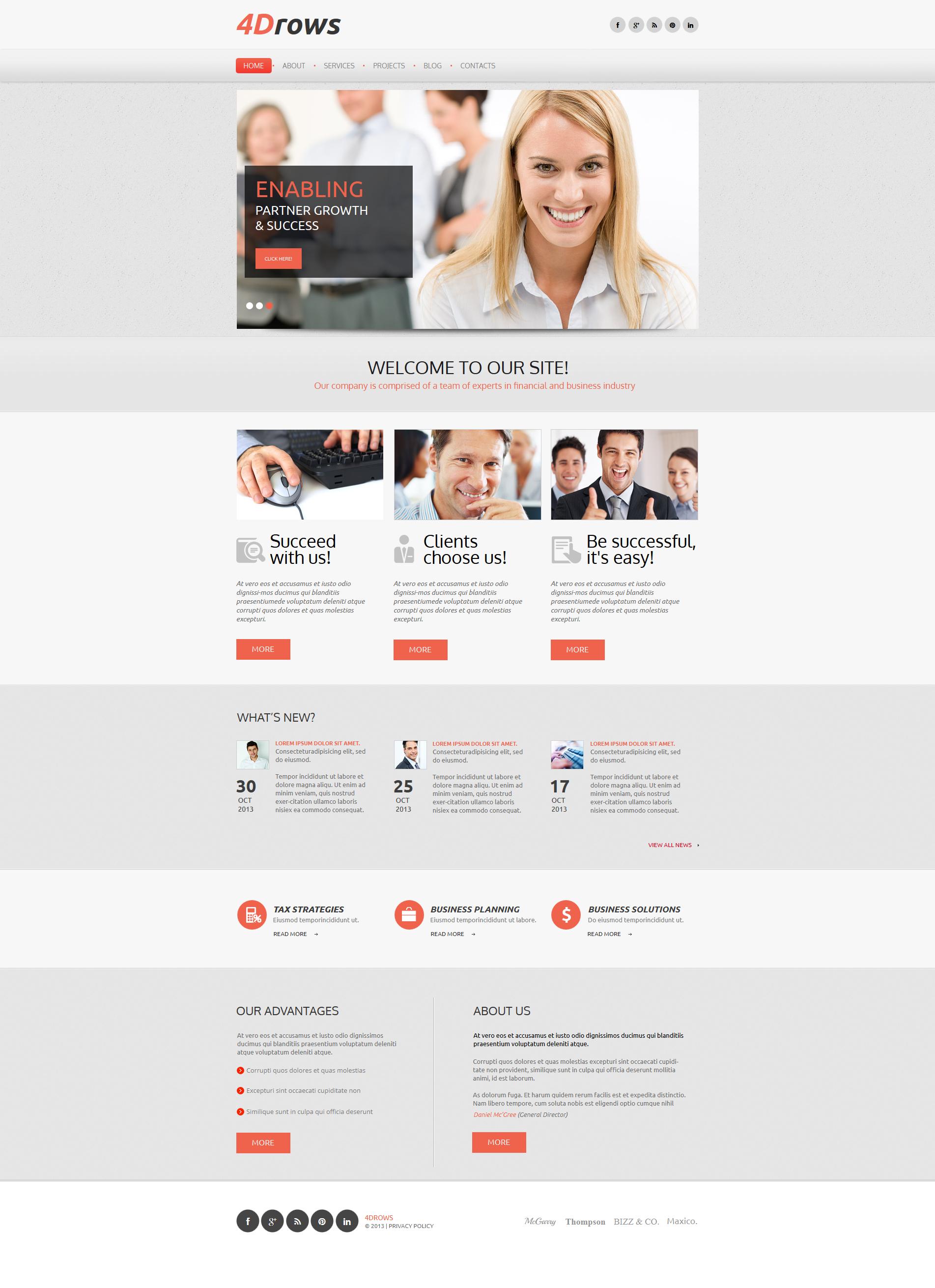 Marketing Agency Moto CMS HTML Template