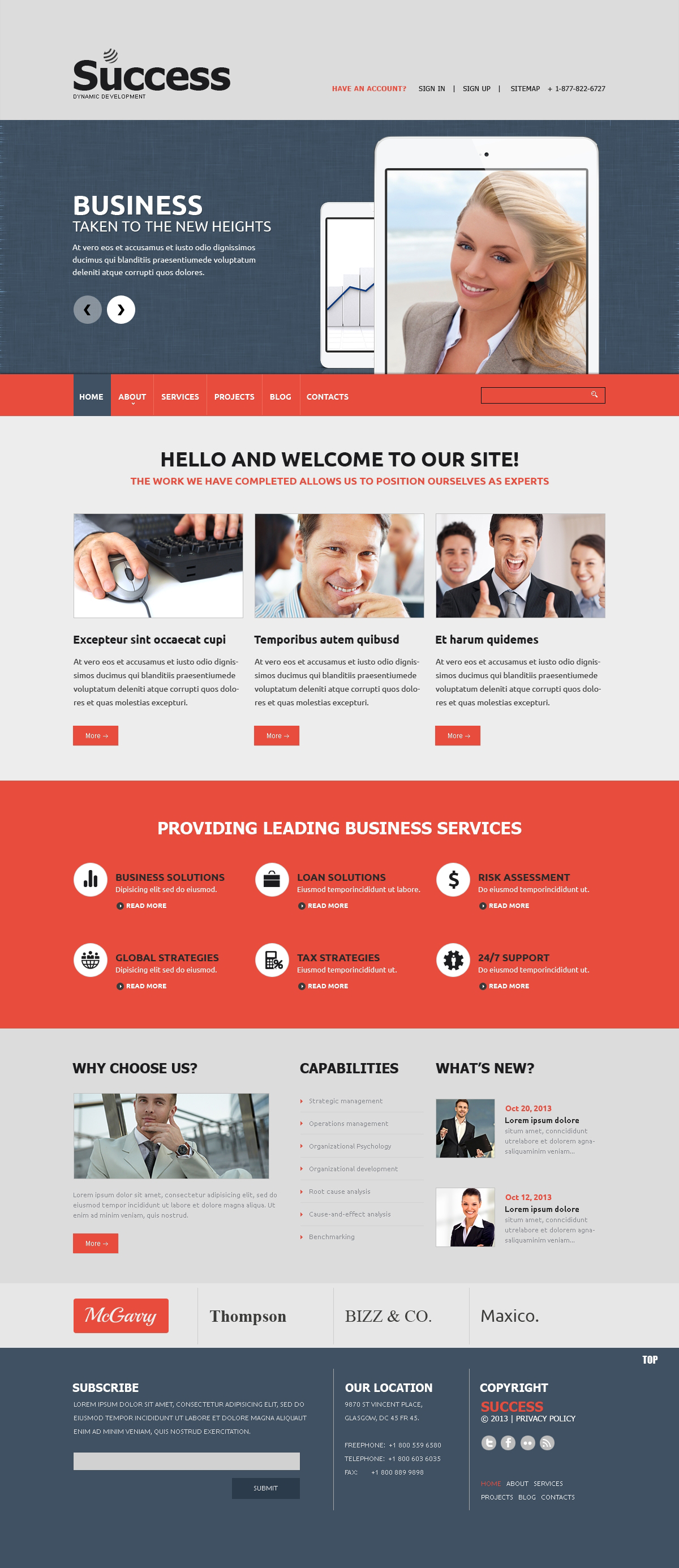 Marketing Agency Website Templates | TemplateMonster