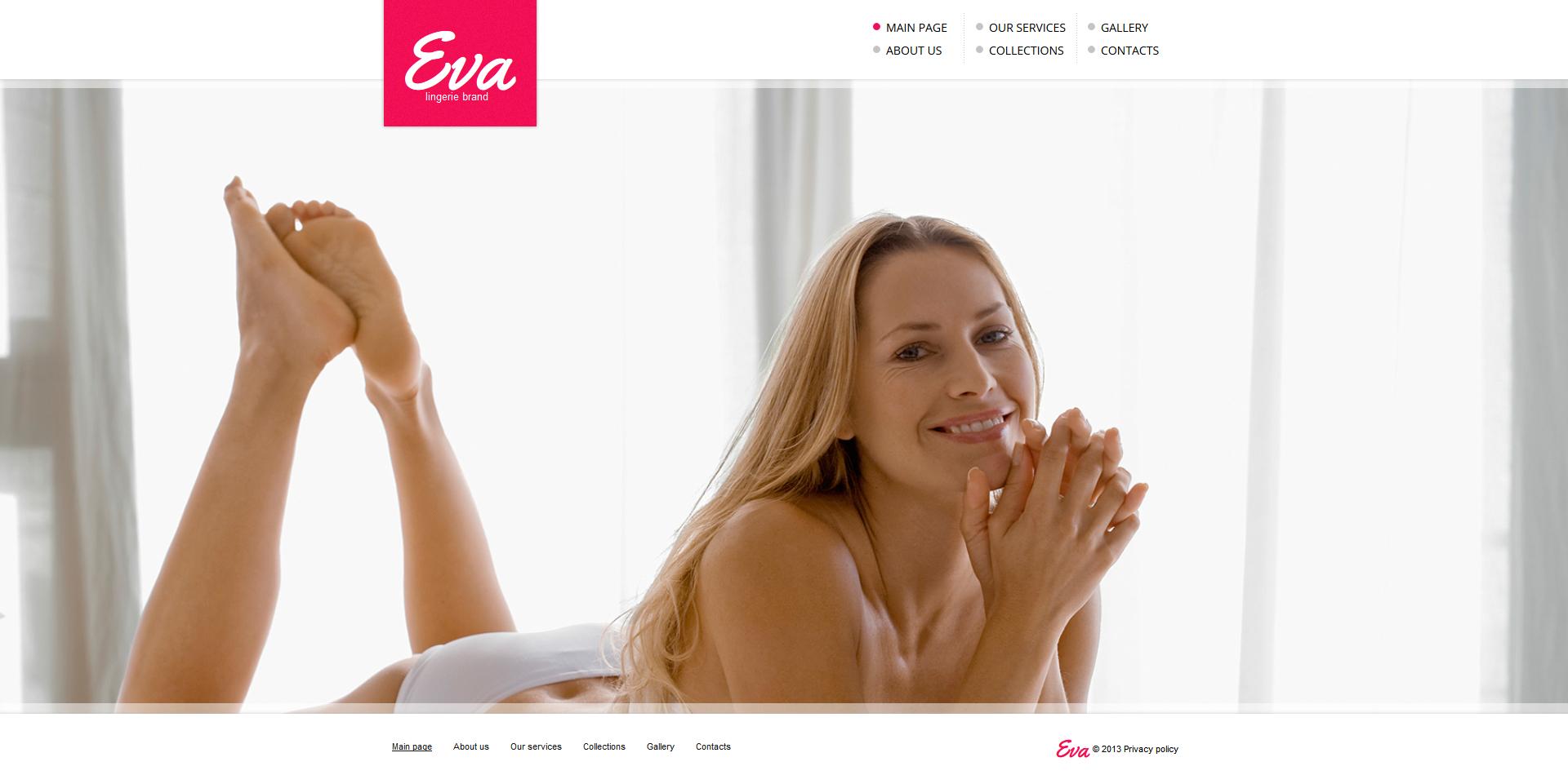 Modèle Moto CMS HTML Premium pour magasin de lingerie #47465