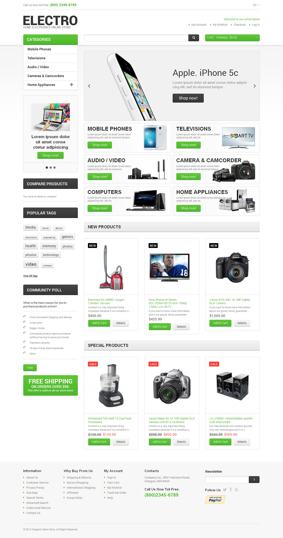 "Modello Magento Responsive #47480 ""Electro Appliances"""