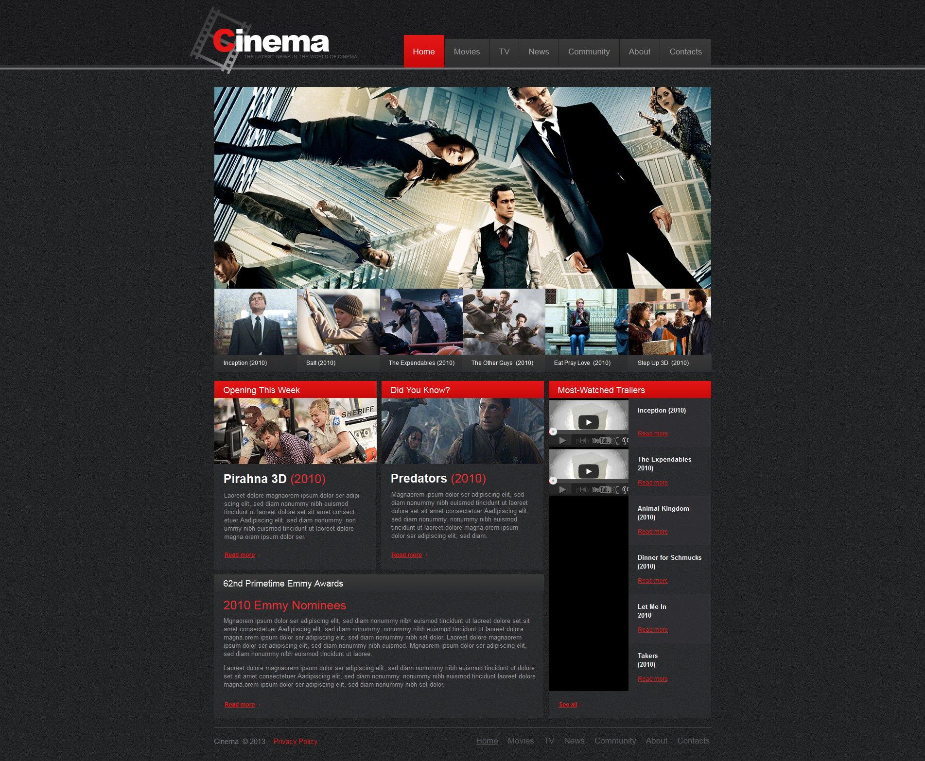 Moto CMS HTML Vorlage für Film #47469