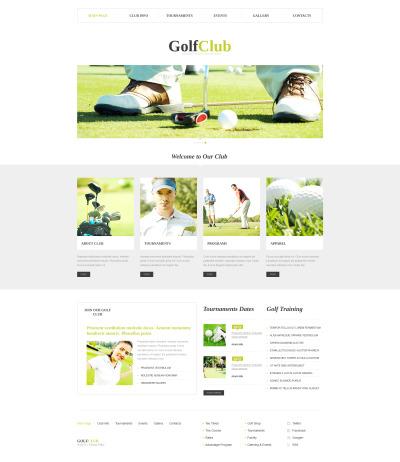 Moto CMS HTML Vorlage für Golf