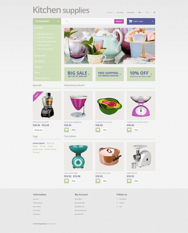 Online Grocery Store PrestaShop Theme New Screenshots BIG