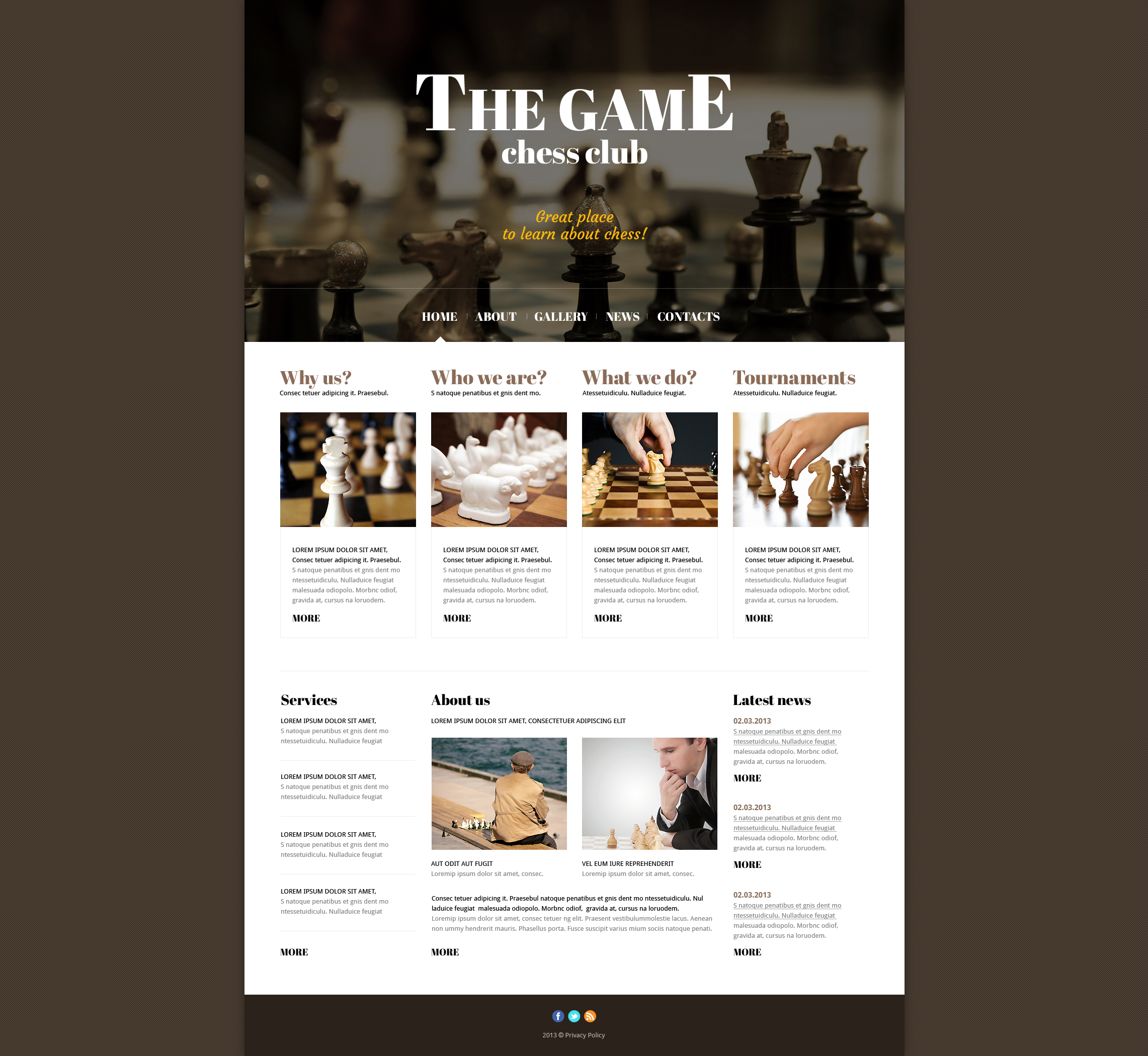 Responsive Joomla Template over Schaken №47434 - screenshot