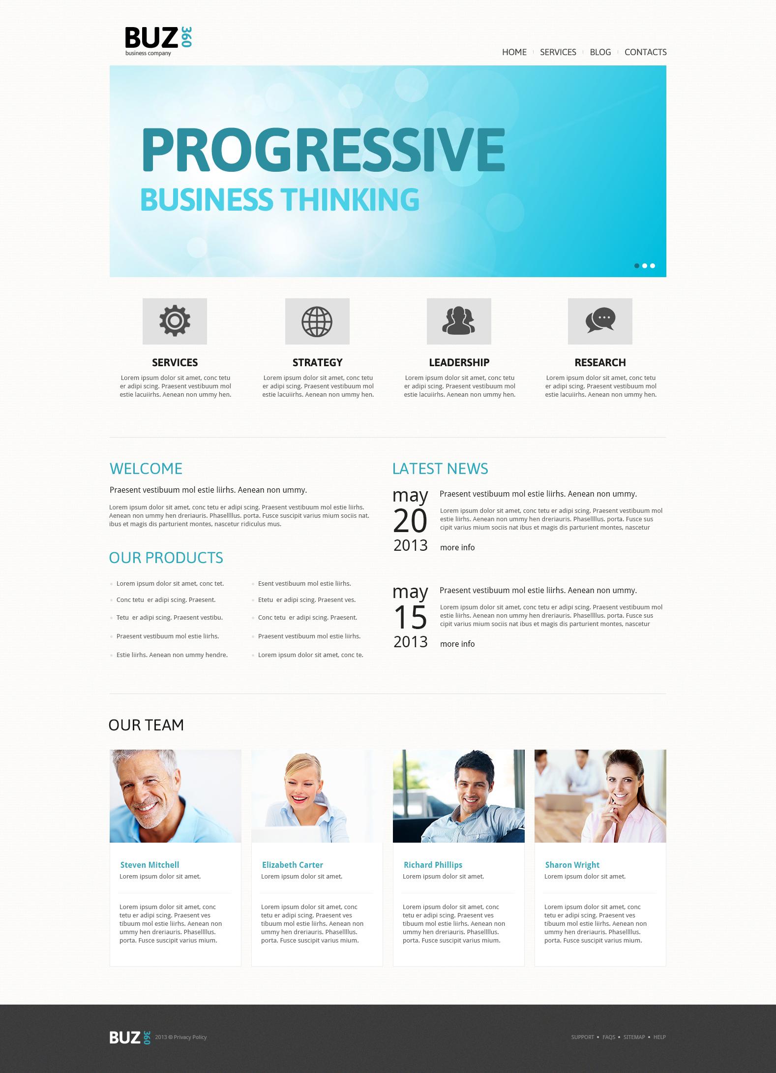 Joomla Vorlage #47487 für Buchhaltung Website