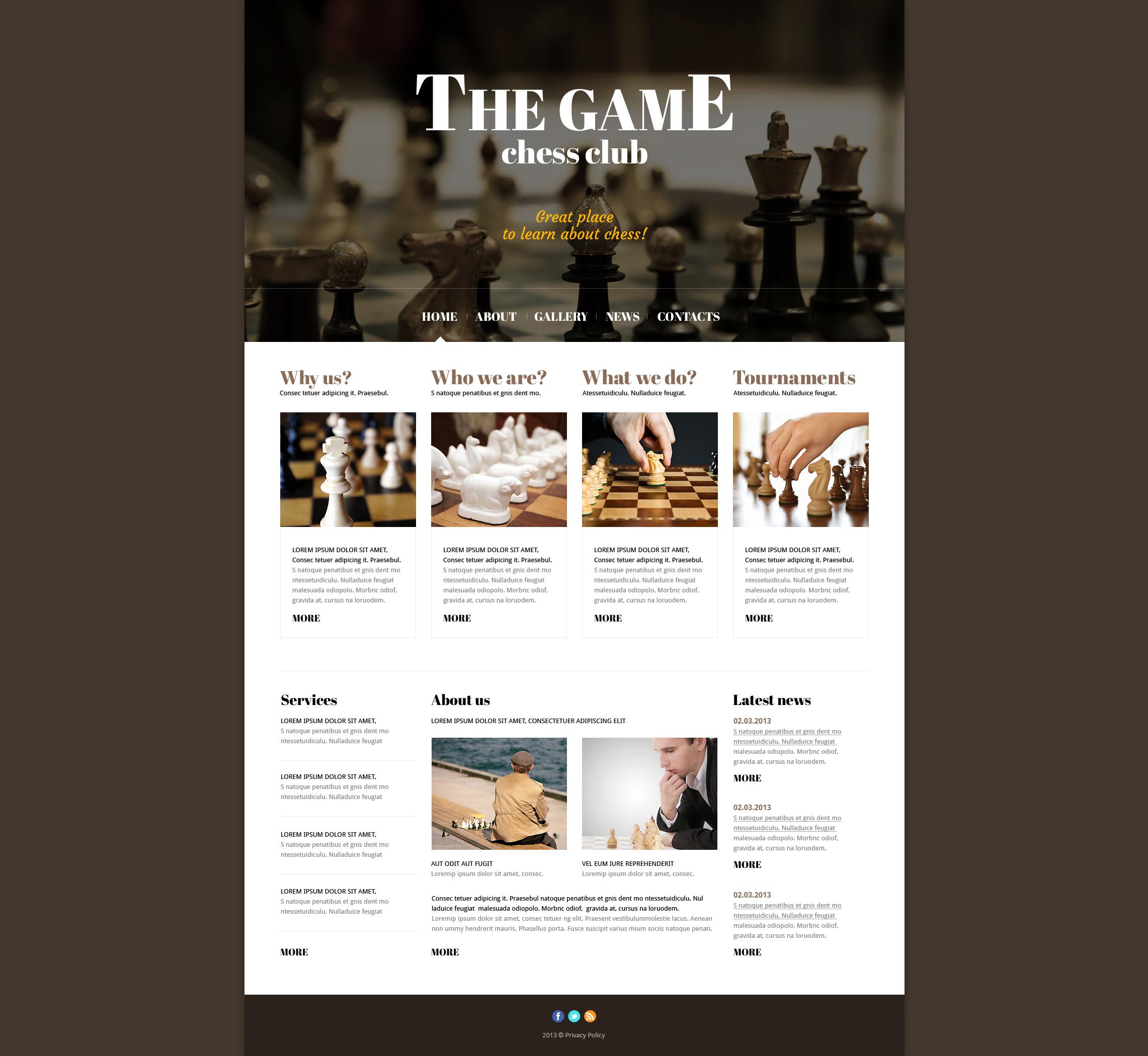 Responsive Joomla Vorlage für Schachspiel #47434 - Screenshot