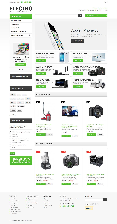 Responsivt Electro Appliances Magento-tema #47480
