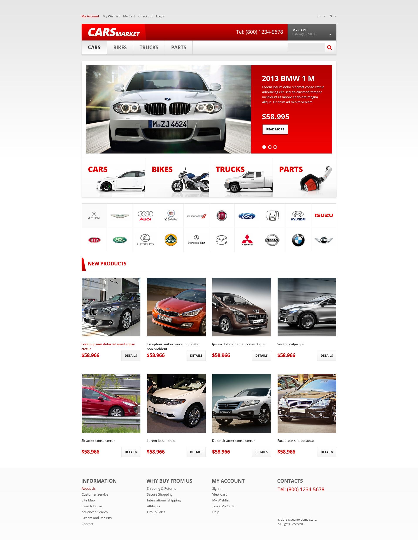 Reszponzív Autókereskedői Magento sablon 47402