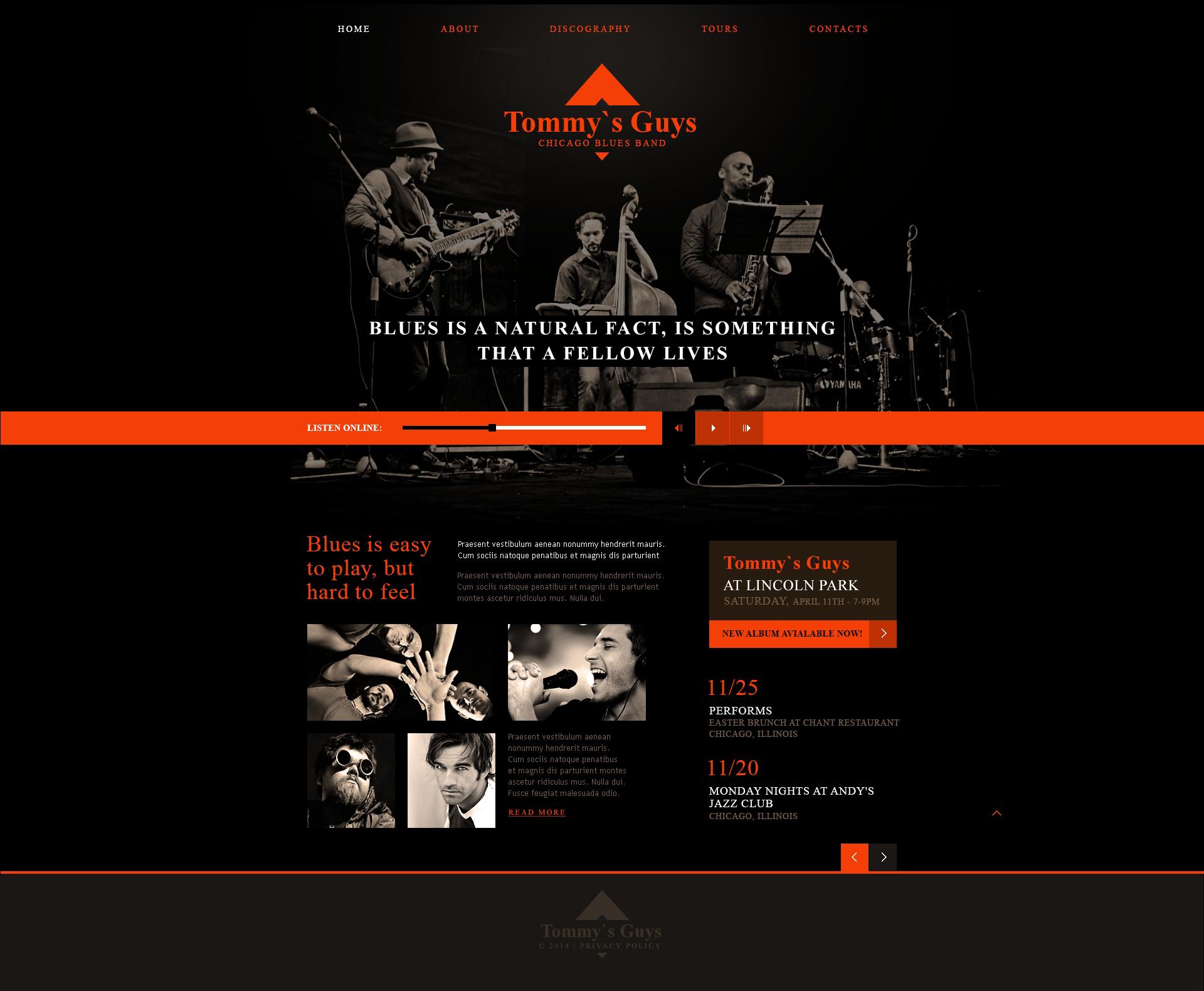 Reszponzív Blues Connecting People Weboldal sablon 47411 - képernyőkép