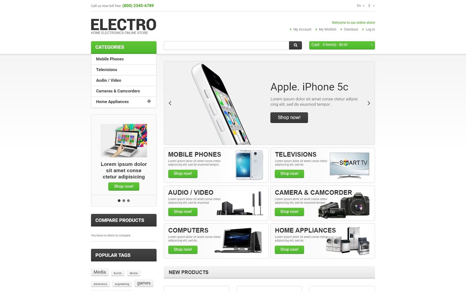 Reszponzív Electro Appliances Magento sablon 47480